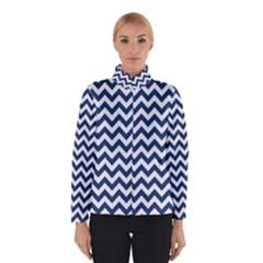 Dark Blue And White Zigzag Winterwear