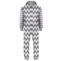 Grey And White Zigzag Hooded Jumpsuit (men)
