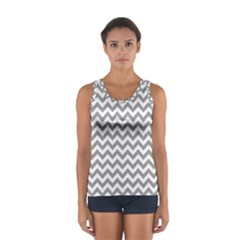 Grey And White Zigzag Tops