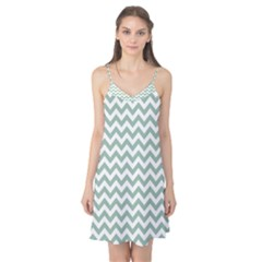Jade Green And White Zigzag Camis Nightgown