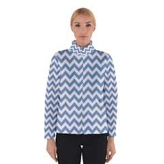Blue And White Zigzag Winterwear