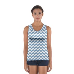 Blue And White Zigzag Tops