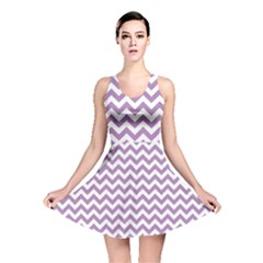 Lilac And White Zigzag Reversible Skater Dress