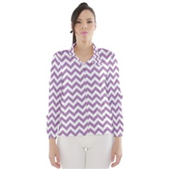 Lilac And White Zigzag Wind Breaker (Women)