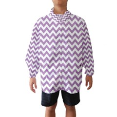 Lilac And White Zigzag Wind Breaker (Kids)