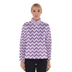 Lilac And White Zigzag Winterwear