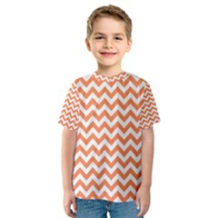 Orange And White Zigzag Kid s Sport Mesh Tee