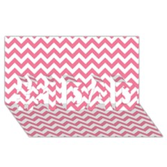 Pink And White Zigzag #1 Dad 3d Greeting Card (8x4)