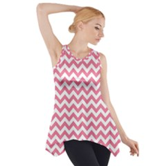 Pink And White Zigzag Side Drop Tank Tunic