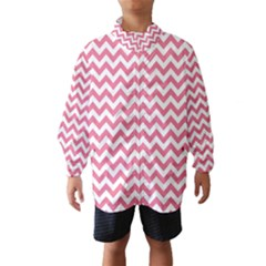 Pink And White Zigzag Wind Breaker (Kids)