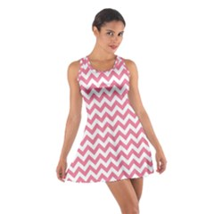 Pink And White Zigzag Racerback Dresses