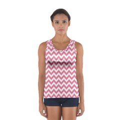 Pink And White Zigzag Tops