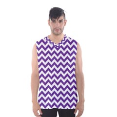Purple And White Zigzag Pattern Men s Basketball Tank Top