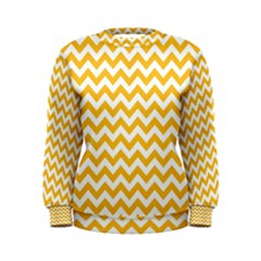 Sunny Yellow And White Zigzag Pattern Women s Sweatshirt