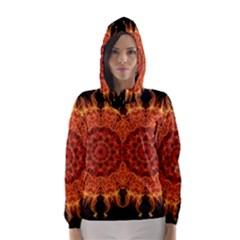 Flaming Sun Hooded Wind Breaker (women)