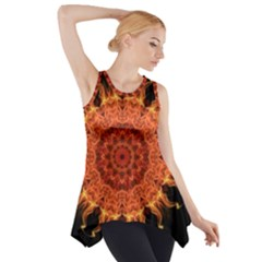 Flaming Sun Side Drop Tank Tunic
