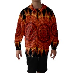 Flaming Sun Hooded Wind Breaker (Kids)