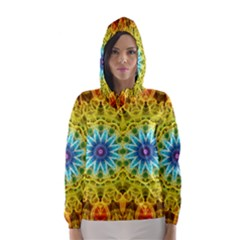 Flower Bouquet Hooded Wind Breaker (women)