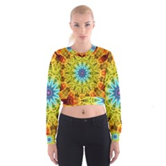 Flower Bouquet Women s Cropped Sweatshirt