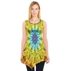 Flower Bouquet Sleeveless Tunic