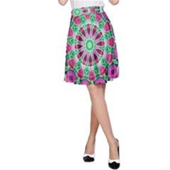 Flower Garden A Line Skirt