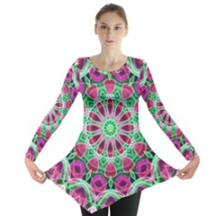 Flower Garden Long Sleeve Tunic