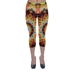 Ochre Burnt Glass Capri Winter Leggings