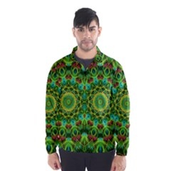 Peacock Feathers Mandala Wind Breaker (Men)