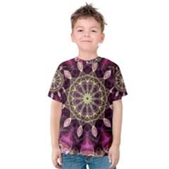 Purple Flower Kid s Cotton Tee