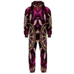 Purple Flower Hooded Jumpsuit (men)