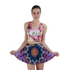 Purple Lotus Mini Skirts
