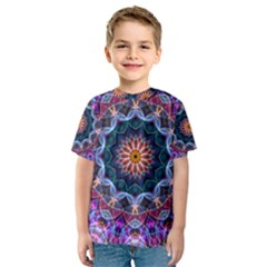 Purple Lotus Kid s Sport Mesh Tee
