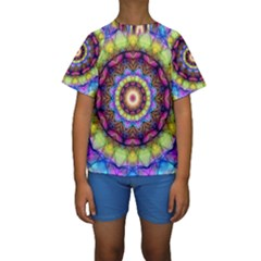 Rainbow Glass Kid s Short Sleeve Swimwear