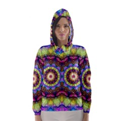 Rainbow Glass Hooded Wind Breaker (women)