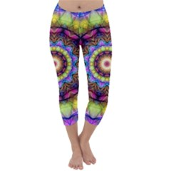 Rainbow Glass Capri Winter Leggings