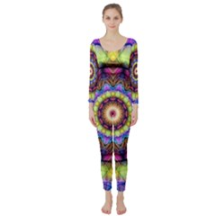Rainbow Glass Long Sleeve Catsuit