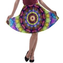 Rainbow Glass A Line Skater Skirt