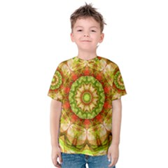 Red Green Apples Mandala Kid s Cotton Tee