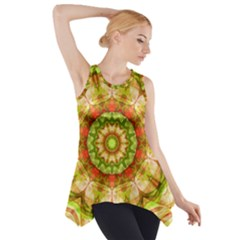 Red Green Apples Mandala Side Drop Tank Tunic