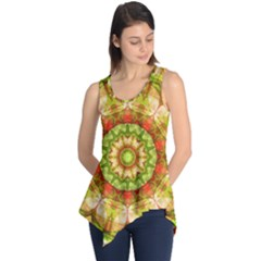 Red Green Apples Mandala Sleeveless Tunic