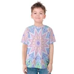 Soft Rainbow Star Mandala Kid s Cotton Tee