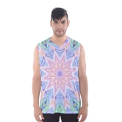 Soft Rainbow Star Mandala Men s Basketball Tank Top