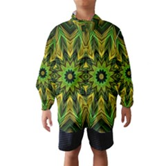 Woven Jungle Leaves Mandala Wind Breaker (Kids)