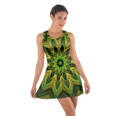 Woven Jungle Leaves Mandala Racerback Dresses
