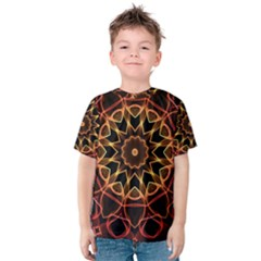 Yellow And Red Mandala Kid s Cotton Tee