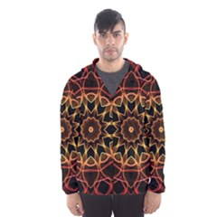 Yellow And Red Mandala Hooded Wind Breaker (men)