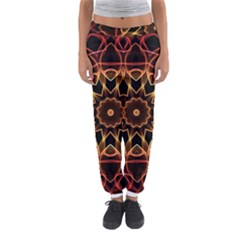 Yellow And Red Mandala Women s Jogger Sweatpants