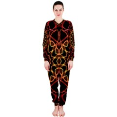 Yellow And Red Mandala Onepiece Jumpsuit (ladies)