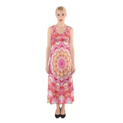 Yellow Pink Romance Full Print Maxi Dress