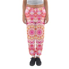 Yellow Pink Romance Women s Jogger Sweatpants